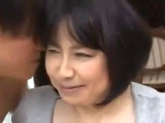 Titty Japanese teasing cock with big boobs