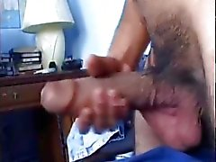 Sexy Latin Guy Wanking Hung Cock