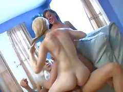 Two Tight College Girls In Hot Threeway