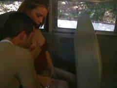 Pierced tits fucked in schoolbus