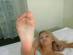 Sexy Foot Show From Ashlynn Brooke