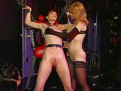 Slave dominated by two hot ladys