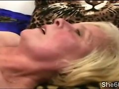 Horny 60yo whore waits for her lover while masturbating