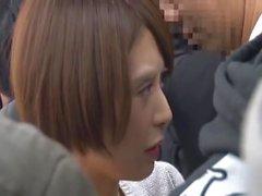 Японская девочка получении на ощупь