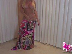 Ana Mancini in a new dress