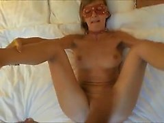 Masked blonde wife with splendid big boobs blows and fucks