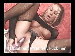 Blonde In Fishnets Orgasms