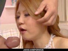 Amazing blowjob by superb maid, Sakamoto Hikari