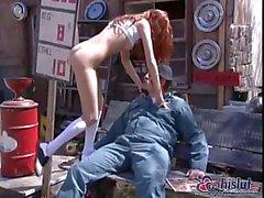 Redhead scopare aperta & cummed