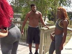 TRACEY & TRINA Get Fit & Fucked
