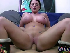 Sophie Dee makes a fat shaft cum