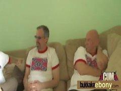 Hard group blowjob and facial interracial bukkake 1