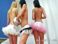 Three anal babes acrobats vibrating anus
