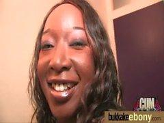 Gorgeous ebony lady sucks white dicks and gangbang fucking 24