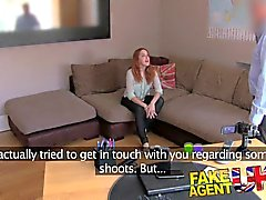 FakeAgentUK Agent fucks petite Spanish redhead good and hard