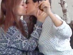 lesbian kiss me