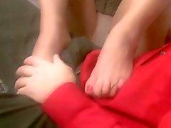 Preghiera Bendato del Pantyhose piedi