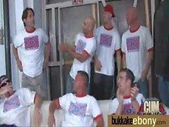 Ebony Babe Sucks Group Of White Guys 8