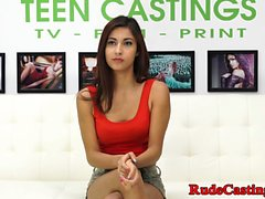Casting amateur teen banged hard
