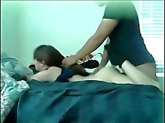 White Teen Interracial Sex With Hair Pulling