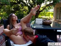 LoveHerFeet - Naughty Nina North Foot Fucks Hard Cock