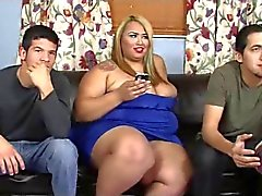 ebony ssbbw heat up the football match