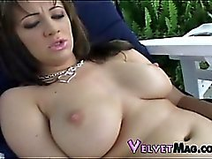 Kody strums her tight clit with her flicking fingers.