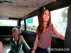 Two babes getting in the sex bus for hot fucking
