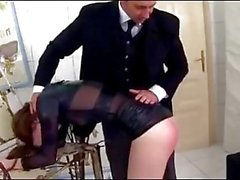 Young Sales Agent Anal Sex and is Slap Around for Her Own Goo