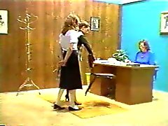 Caning young lady