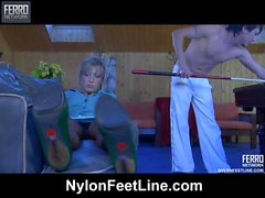 Nora&Rolf nylon footfuck video