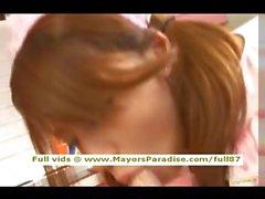 Риса Цукино невинных Китая брюнетка девчонки минеты