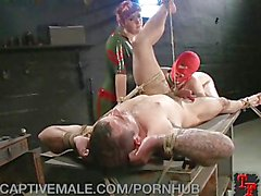 Dominatrix Destroys Her Man Slave