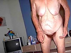 Russian hairy grannie! Amateur!