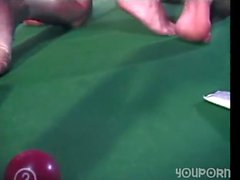 Pool table is perfect for hard anal sex
