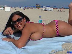 Hawt Bikini Doxy Is Pleasured By A Biggest Schlong At His Condo