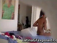 Hidden cam films naked latin teen after part5