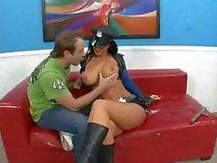 Busty police lady desires dude cock