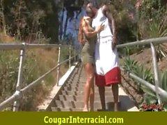 Hard interracial sexy cougar getting fucked 12