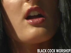 Watch me handle to big black cocks at the same time
