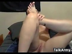 Mature Woman Playing With Her Feet