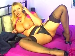 S66 Lucy Gresty Stockings , Heels And Tits