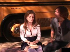 This babe is fucked by her bus driver