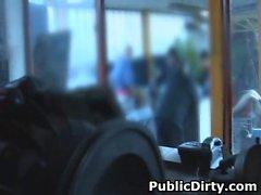 Blonde Amateur Sucking Dick In Public Auto Garage