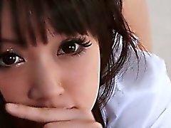 Hottie escola japonesa dando big ereção com estilo PDV