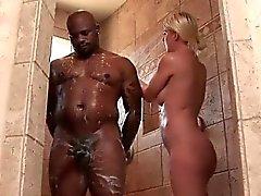 Nasty blonde slut gets horny jerking