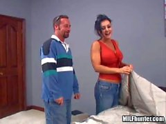 Leesa is another charming woman that takes MILF Hunter's cock