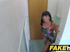 Fake Hospital Toilet room mamada y follando con big boobs euro paciente