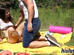 Saucy teenager pleasures her boyfriend