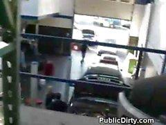 Blowjob In Auto Shop